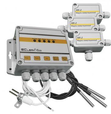 Терморегулятор с удаленным управлением по GSM EClerk-Eco-3TL-GSM-0-2R-HP